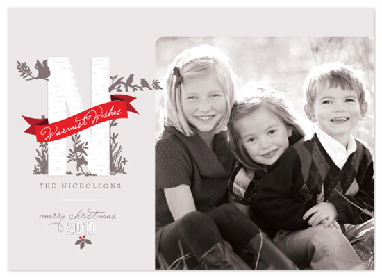 holiday photo cards - Woodland Wonderland by Design Lotus