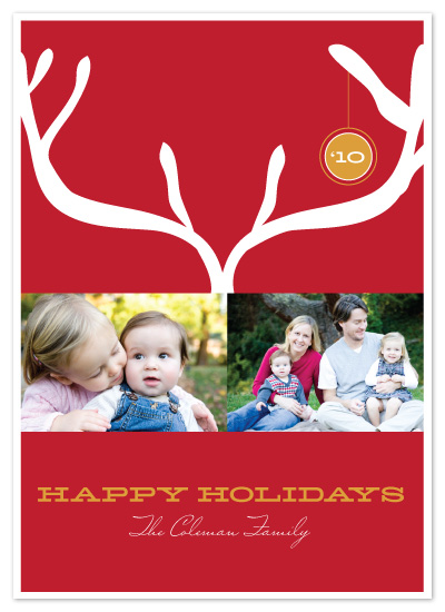 holiday photo cards - Modern Antlers by Maria E