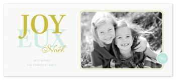 Over joy Holiday Photo Cards