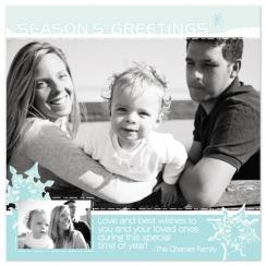 Warm Snowflakes Holiday Photo Cards
