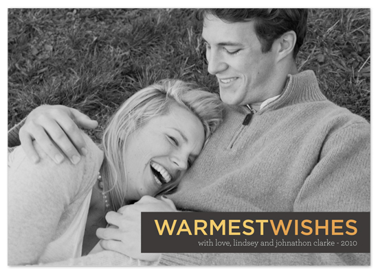 holiday photo cards - warmest wishes by Waui Design