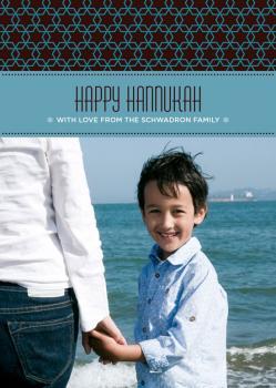 Hannukah Stars Holiday Photo Cards