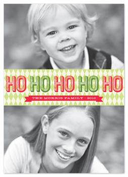 Retro Harlequin Holiday Photo Cards