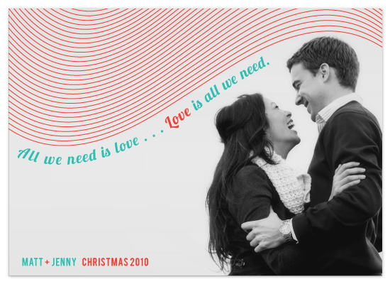 holiday photo cards - All We Need is Love by Sydney Newsom