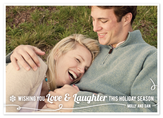 holiday photo cards - Love & Laughter by Sarah Jane