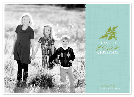 holiday photo cards - Holly Jolly by SunnyJuly
