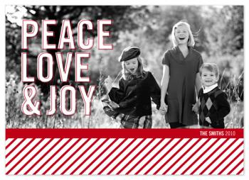 Peace Love & Joy Holiday Photo Cards