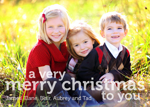 holiday photo cards - Merry Christmas by He She Us