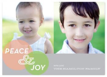 mod and circles Holiday Photo Cards