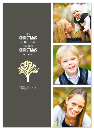 holiday photo cards - lit tree by Dear Lola