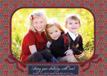 Knitted Holiday Photo Cards
