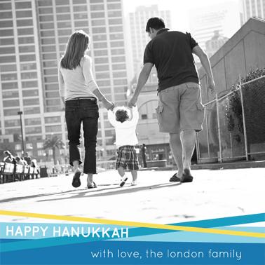 holiday photo cards - Hanukkah Stripes by Pauselius