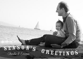 Gentle Waves Holiday Photo Cards