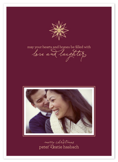 holiday photo cards - Love and Laughter by Sarah Brown