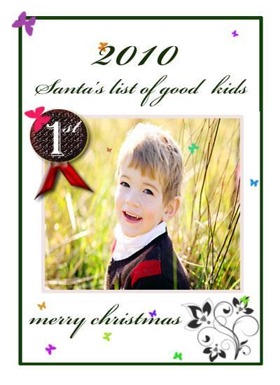 holiday photo cards - santa's list by Pranshu Kumar Chaudhary