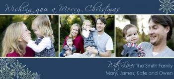 Merry Christmas Holiday Photo Cards