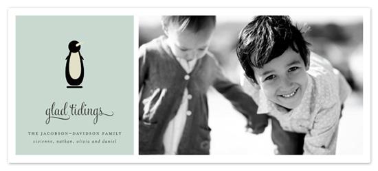 holiday photo cards - JOYEUX NOËL + penguin by Emily Ranneby