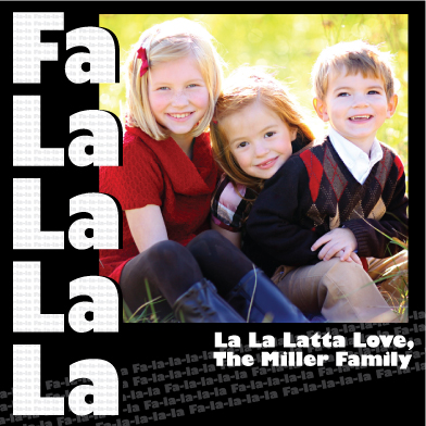 holiday photo cards - Fa La La La Latta Love by Margot Miller