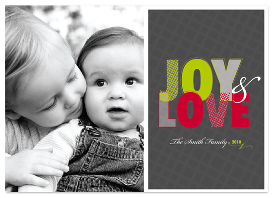 holiday photo cards - Joy and Love by Trendy Peas
