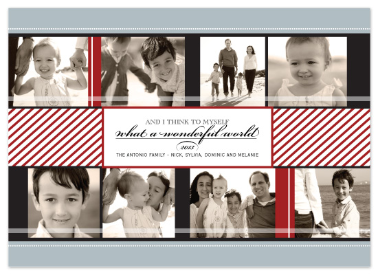 holiday photo cards - Wonderful World by The Opened Envelope