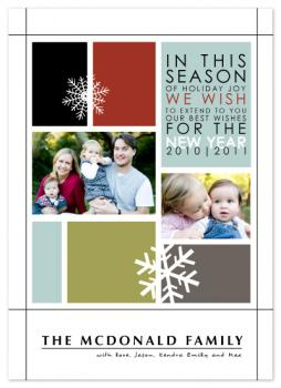 Stained Glass Holiday Photo Cards
