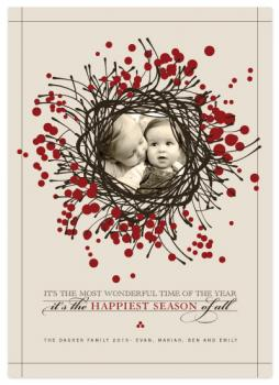 Wreathed with Love Holiday Photo Cards
