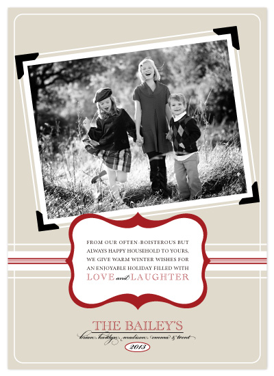 holiday photo cards - Framed for the Holidays by The Opened Envelope