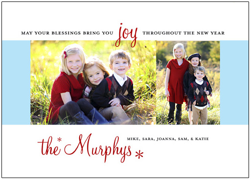 holiday photo cards - Joy by Teresa Lang
