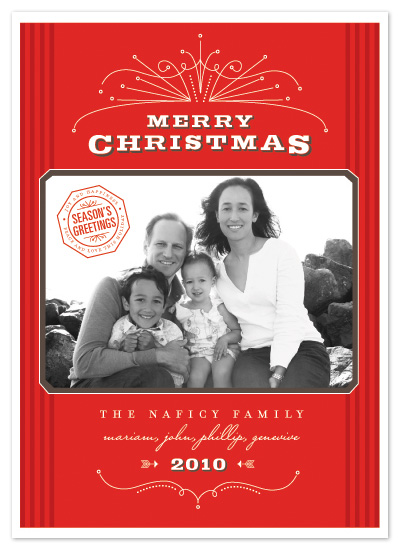 holiday photo cards - christmas rosé by sweet street gals