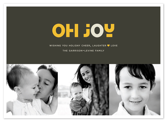 holiday photo cards - JOYEUX NOËL + oh joy by Emily Ranneby