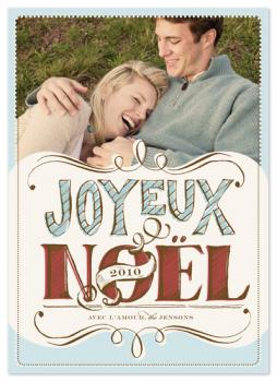 joyeux noel Holiday Photo Cards