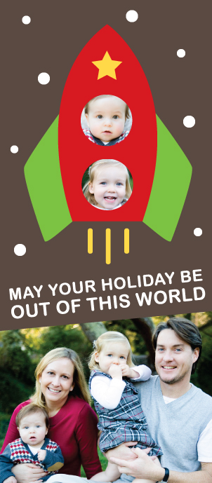holiday photo cards - Out of this World Holiday by Kimberly Schwede