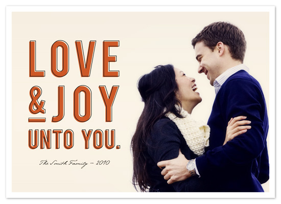 holiday photo cards - Love & Joy by Snow and Ivy