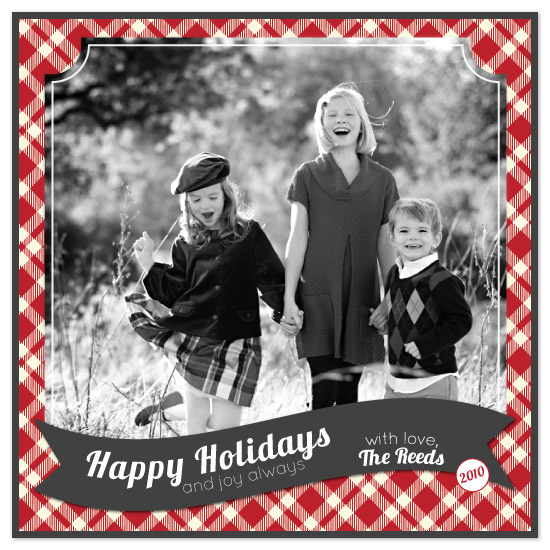holiday photo cards - Plaid Holiday by Ali Reed