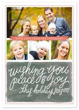 Wishing Script Holiday Photo Cards