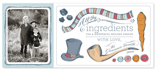 holiday photo cards - ingredients by pottsdesign