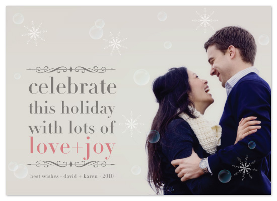 holiday photo cards - Celebrate Love  + Joy by Gakemi Art+Design
