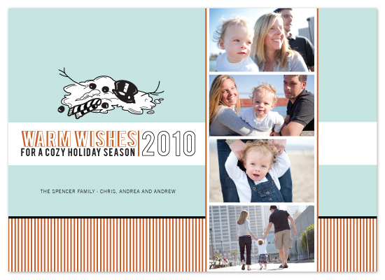 holiday photo cards - Warmth for the Holidays by The Opened Envelope