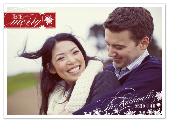 holiday photo cards - Be Merry by Sarah Brown
