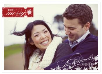 Be Merry Holiday Photo Cards