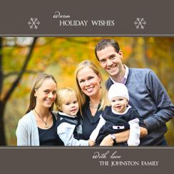 Simply Warm Wishes Holiday Photo Cards