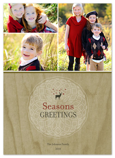 holiday photo cards - Snowflake Reindeer by Katie Wahn