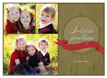 Red Ribbon Holiday Photo Cards