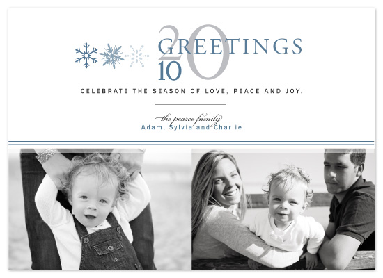 holiday photo cards - Yearly Greetings by The Opened Envelope
