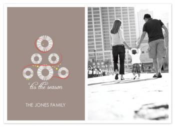 white christmas tree Holiday Photo Cards