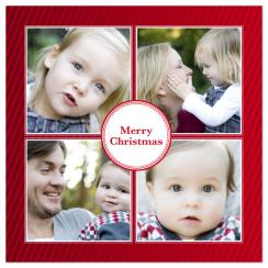 Candy Cane Holiday Photo Cards