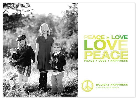 holiday photo cards - Peace by Robin Ott