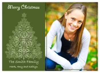 Classic Snowflake Holiday Photo Cards