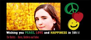 Peace, Love & Happiness V2 Holiday Photo Cards