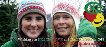 Peace, Love & Happiness V3 Holiday Photo Cards